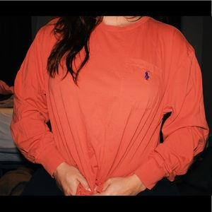 Polo by Ralph Lauren Orange Long Sleeve